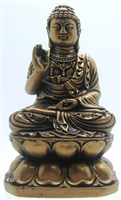 Siddhārtha Gautama Buddha Sitting in Lotus Flower - 4'' (Vitarka Mudra)