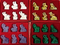 "Elephant 2"" (Set of 6 Figurines)"