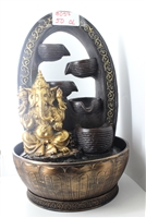 Gold Ganesh cascading fountain w/ gold design arc Model-3057