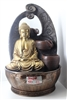 Gold Buddha cascading fountain w/ loop background Model-3626