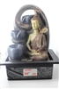 Buddha sitting on right side cascading fountain Model-4040