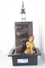 Gold Buddha hands on knees cascading fountain w/LED Model-8016