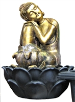 Golden Buddha hands on knee Model-6171