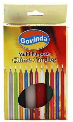 "Chime or Spell Candles (4""): Set of 12 Color Candles - By Govinda®"