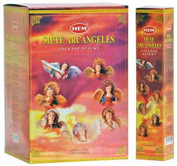 HEM SIETE ARCANGELES INCENSE - 35 STICKS PACK (12/BOX)