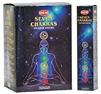 HEM 7 CHAKRA INCENSE - 35 STICKS PACK (12/BOX)