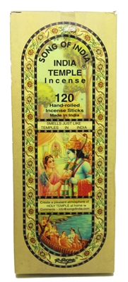 India Temple Incense Sticks 150 Grams (120 Sticks) Case