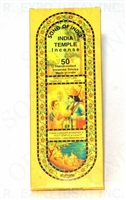 India Temple Incense Sticks 60 grams ( 50 Sticks ) Case