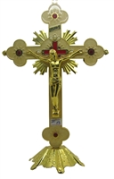 Saint Benedict Jesus INRI Cross (Large)