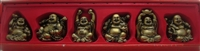 Laughing Buddha 3 Inch Statues (Set of 6 Figurine) - Choose Color
