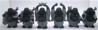 Laughing Buddha 4 Inch Statues (Set of 6 Figurine) - Choose Color