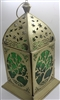Iron & Glass Moroccan lamp (GOLD/GREEN) Model LM103