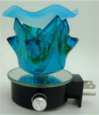Plug In Assorted Crystal Aroma Lamp