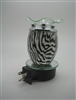 Plug In Oil Warmer - Zebra Pattern Glass Aroma Lamp