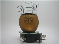 Plug In Gold with Snowflake Design Oil Warmer