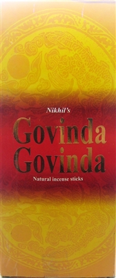 NIKHIL GOVINDA GOVINDA INCENSE - 15 STICKS (12/BOX)