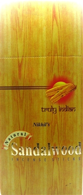 NIKHIL'S SANDALWOOD INCENSE - 15 STICKS (12/BOX)
