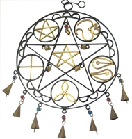 Esoteric Pentagram design wrought Iron hanging