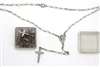 Rosary with Clear Beads - 1 Dozen - Individually Boxed