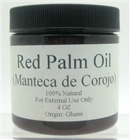 Red Palm Oil - 4 oz. (Manteca de Corojo)