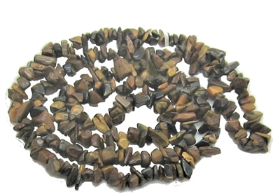 Rough Stone Necklace (Tiger Eye)