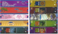 Fresh Rose, Gyana, Namana, Purple Jewel, Rain Mist, Shreya, Super Sandal, Tufan, Yantra, Yuga 