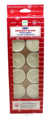 Satya Tea Light Scented Candle - Dragon's Blood - Pack of 12