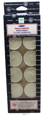 Satya Tea Light Scented Candle - Palo Santo - Pack of 12