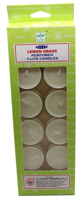 Satya Tea Light Scented Candle - Lemongrass - Pack of 12