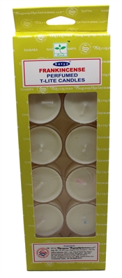 Satya Tea Light Scented Candle - Frankincense - Pack of 12