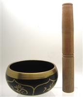 Tibetan Singing Bowl OM Design