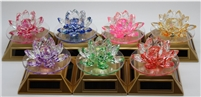 Lotus Crystal Flower - Solar Powered (Select Color)