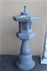 Oriental lawn lantern tower solar powered Model-130036