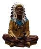 American Sitting Chief Indian with Pipe Large