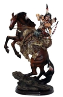American Indian Hunting on Horse