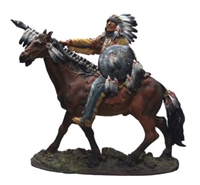 American Indian Warrior on Horse