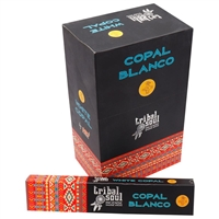 Tribal Soul - WHITE COPAL - Incense Smudge Sticks (Box of 12 Packs)