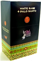 Tribal Soul - WHITE SAGE + PALO SANTO - Incense Smudge Sticks (Box of 12 Packs)