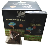 [Backflow] Tribal Soul - WHITE SAGE + PALO SANTO - Jumbo Backflow Dhoop Cones (Box of 12 Packs x 10 cones each)