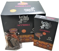 [Backflow] Tribal Soul - MYRRH - Jumbo Backflow Dhoop Cones (Box of 12 Packs x 10 cones each)