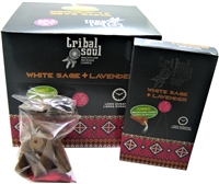[Backflow] Tribal Soul - WHITE SAGE + LAVENDER  - Jumbo Backflow Dhoop Cones (Box of 12 Packs x 10 cones each)