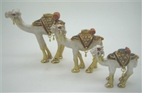 Set of Three Camels - Bejeweled Trinket Box
