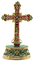 Cross Bejeweled Trinket Box