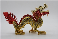 "Red and gold dragon w/ jewels trinket 3.5"" TRNK-2172"