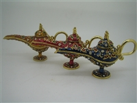 Red Aladdin Genie Lamp - Bejeweled Trinket Box