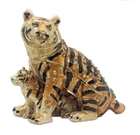 "Tiger w/ child Trinket Box 1.5"" TRNK-2925"