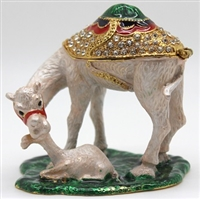Camel with Calf Trinket Box Bejeweled