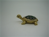 Turtle Green Shell - Bejeweled Trinket Box
