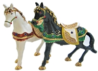 "Horse w/ jewels 4.5"" trinket. TRNK-4212"