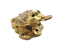 Feng Shui Money Toad Trinket Bejeweled Box